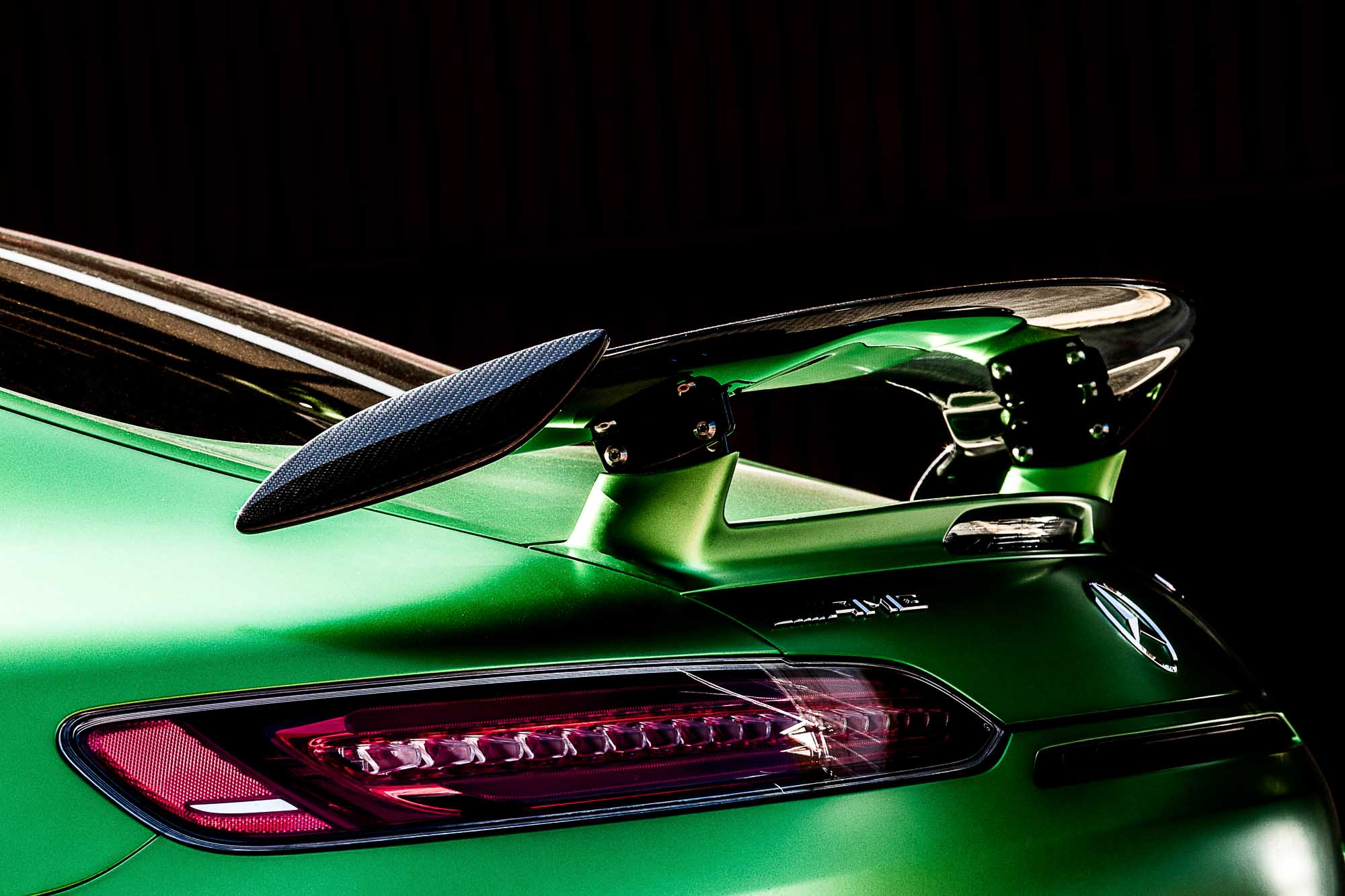 Spoiler of an AMG GTR 50 Year Edition