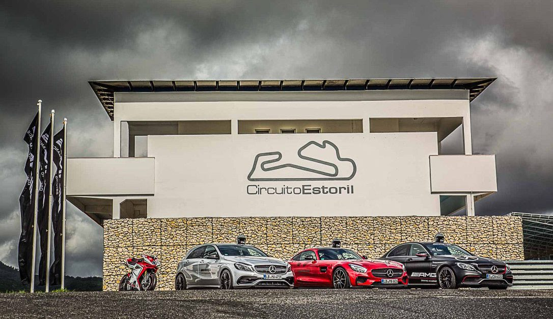 AMG Cars and a Ducati at Estoril Circuit